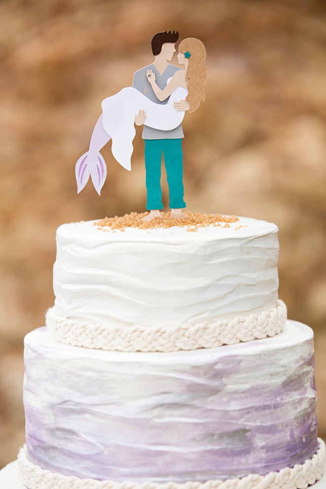 Best ideas about DIY Wedding Cake Topper . Save or Pin You HAVE To See This DIY Mermaid Man Wedding Cake Topper Now.