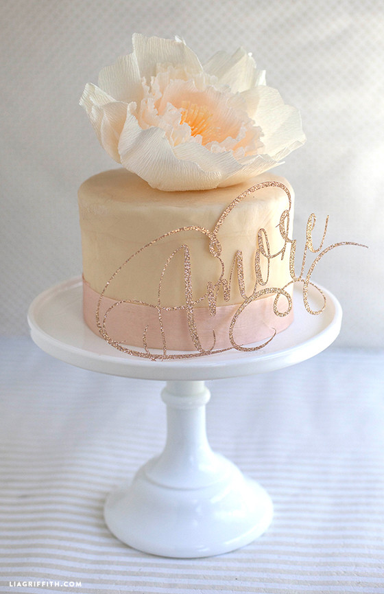 Best ideas about DIY Wedding Cake Topper . Save or Pin Sparkly DIY cake toppers for wedding or birthdays Now.