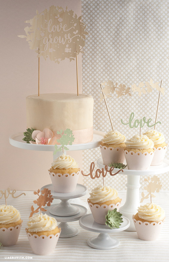 Best ideas about DIY Wedding Cakes . Save or Pin DIY Wedding Cake and Cupcake Topper Lia Griffith Now.