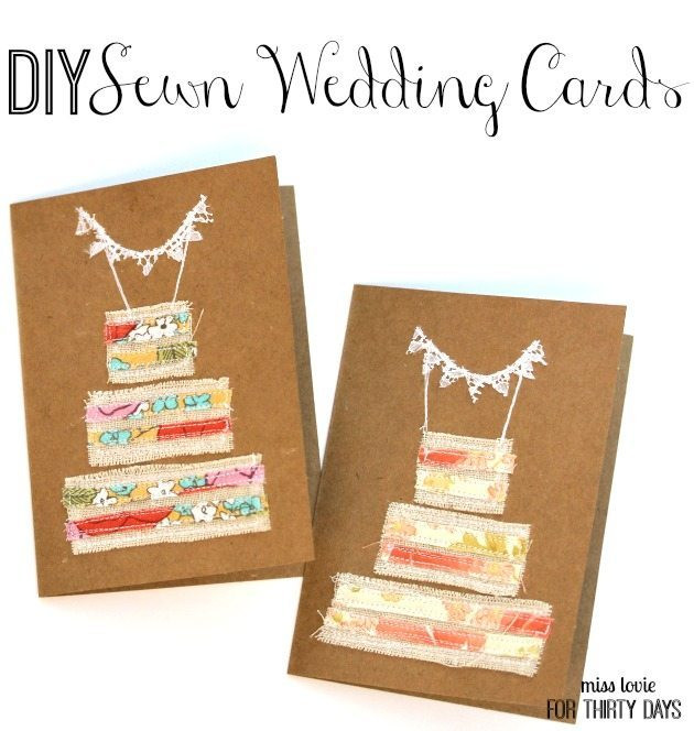 Best ideas about DIY Wedding Cards . Save or Pin DIY Sewn Wedding Cards Now.