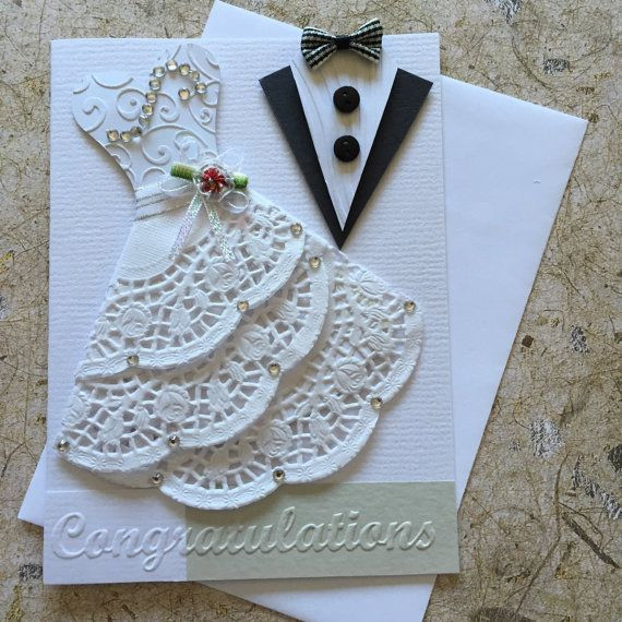 Best ideas about DIY Wedding Cards . Save or Pin Handmade Wedding card card ideas Now.