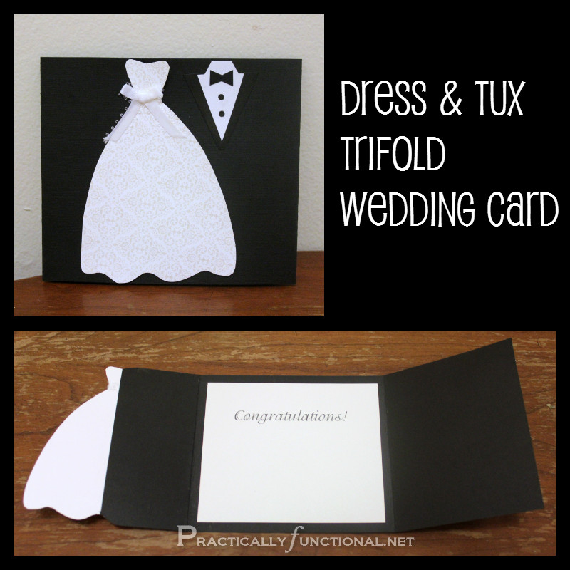 Best ideas about DIY Wedding Cards . Save or Pin DIY Wedding Card Dress & Tux Trifold Printable Now.