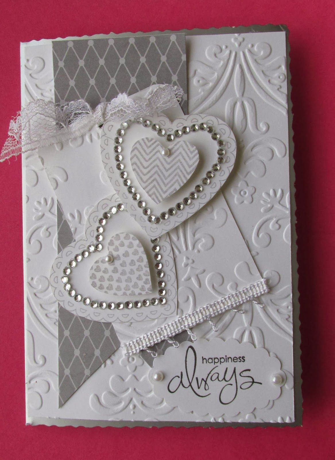 Best ideas about DIY Wedding Cards . Save or Pin Wedding card hearts and embossing card ideas Now.