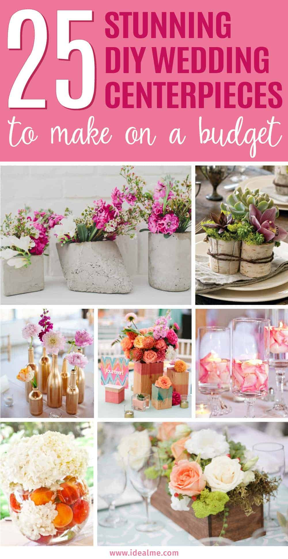 Best ideas about DIY Wedding Centerpiece Ideas . Save or Pin 25 Stunning DIY Wedding Centerpieces to Make on a Bud Now.