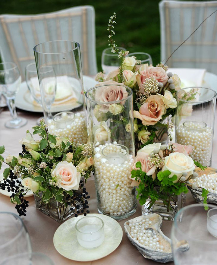 Best ideas about DIY Wedding Centerpiece Ideas . Save or Pin Elegant DIY Pearl and Candle Centerpieces Mon Cheri Bridals Now.
