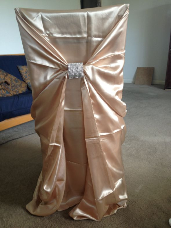 Best ideas about DIY Wedding Chair Covers . Save or Pin Chair Covers and Rhinestone Mesh Chair Ties Now.
