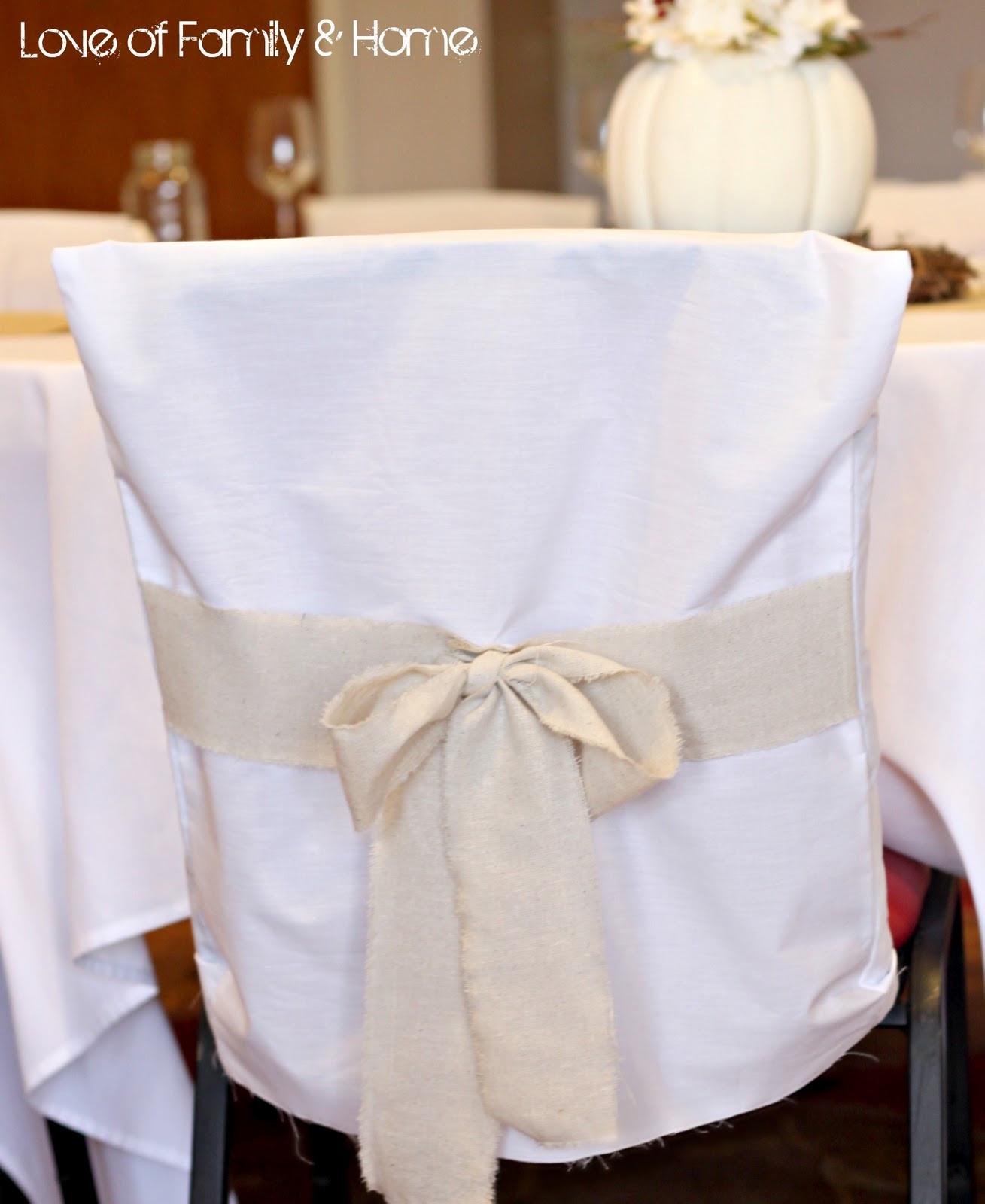 Best ideas about DIY Wedding Chair Covers . Save or Pin DIY Rustic Chic Fall Wedding Reveal Love of Family Now.
