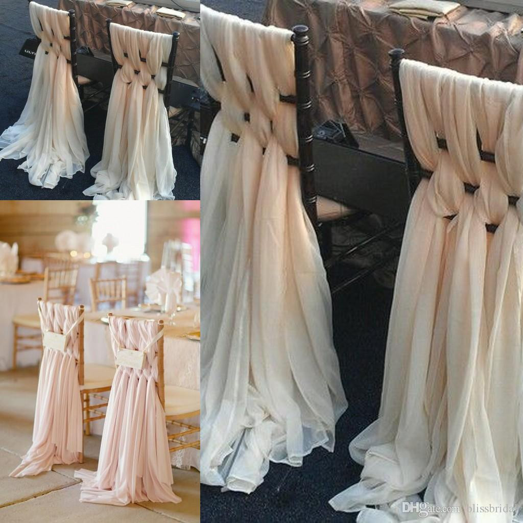 Best ideas about DIY Wedding Chair Covers . Save or Pin 2017 Custom Made Pink Chiffon Diy Wedding Chair Covers And Now.