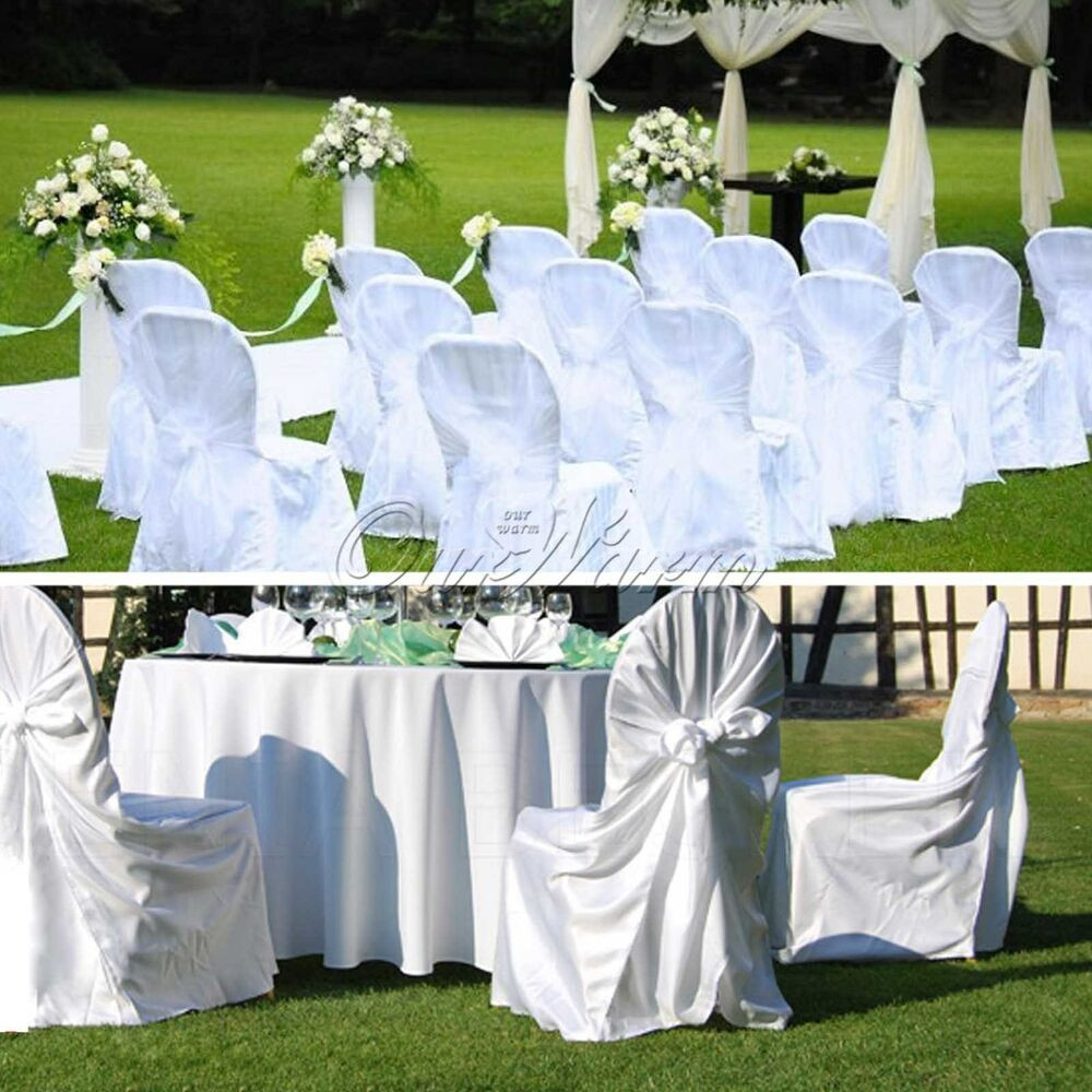 Best ideas about DIY Wedding Chair Covers . Save or Pin 10 White Universal Stain Chair Cover Wedding Xmas Party Now.