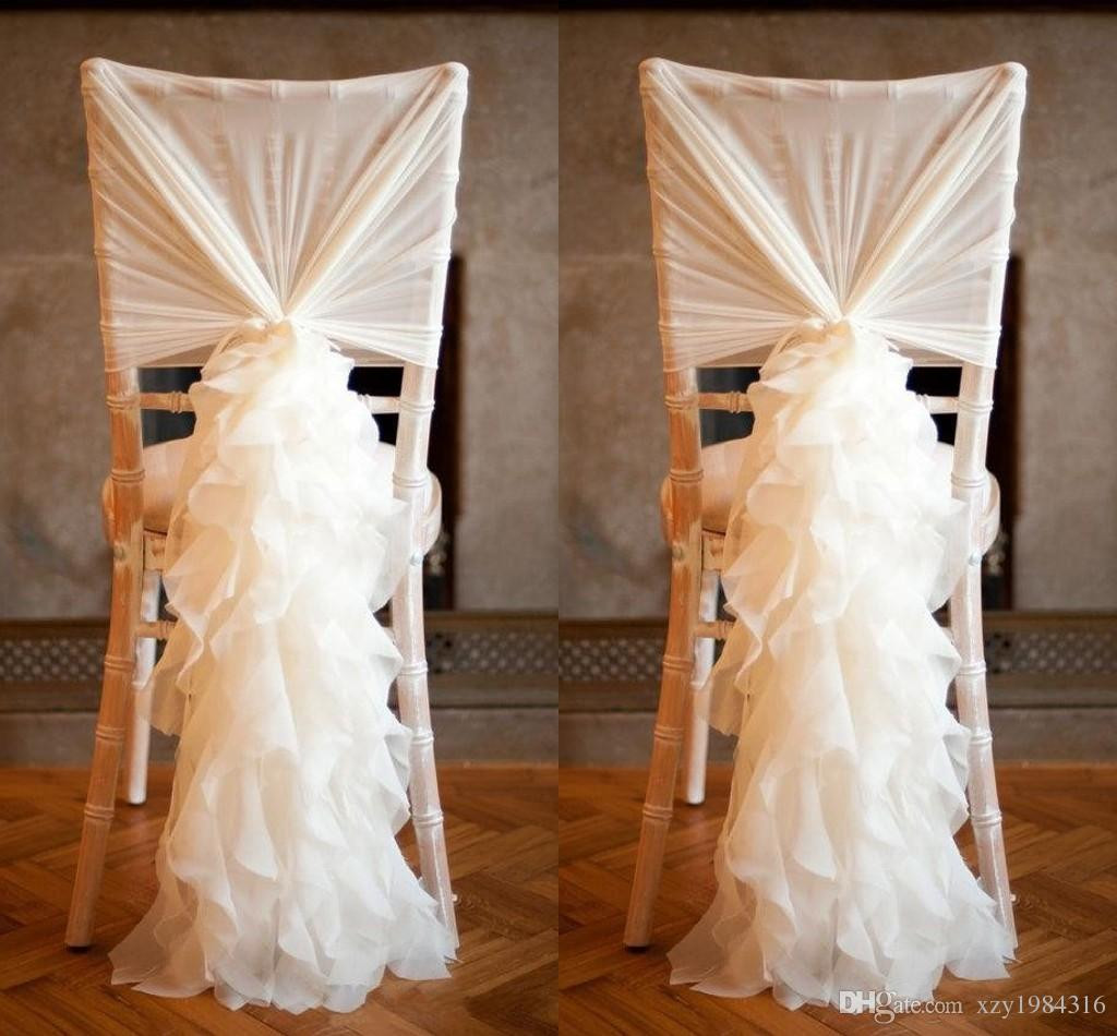 Best ideas about DIY Wedding Chair Covers . Save or Pin 2018 2015 New Arrival Chiffon Chair Covers For Weddings Now.