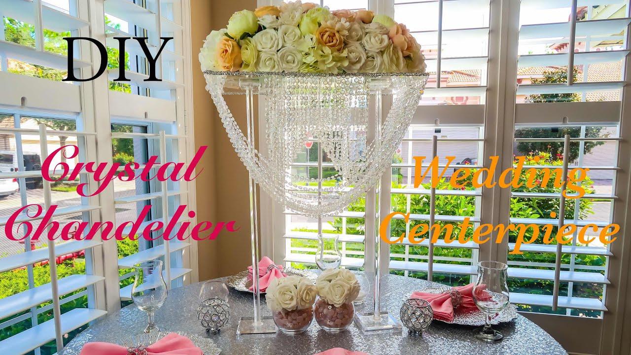 Best ideas about DIY Wedding Chandelier . Save or Pin DIY Crystal Chandelier Wedding Centerpiece Now.
