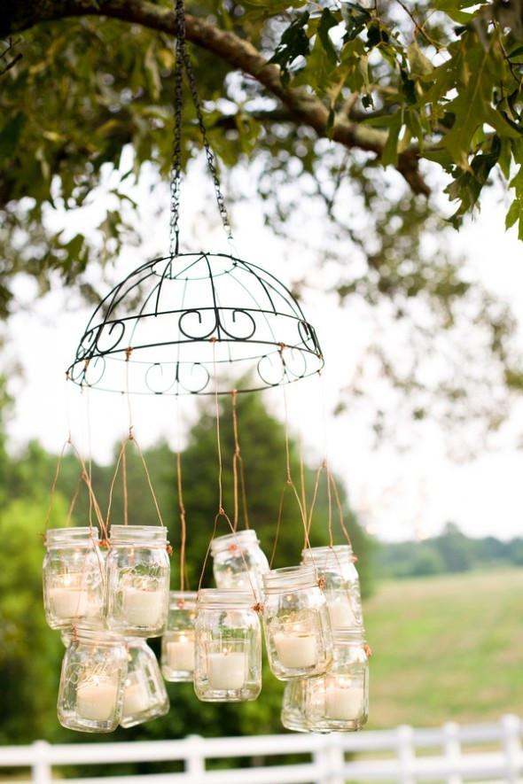 Best ideas about DIY Wedding Chandelier . Save or Pin Wedding Talk Mason Jar Week Hanging Jars Now.
