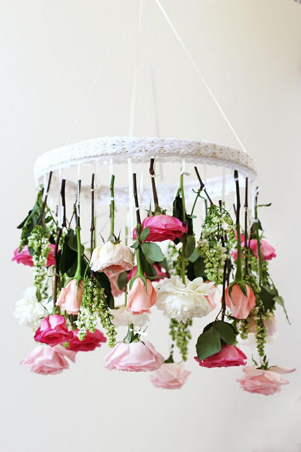 Best ideas about DIY Wedding Chandelier . Save or Pin 20 Cool DIY Chandelier Ideas for Inspiration Hative Now.