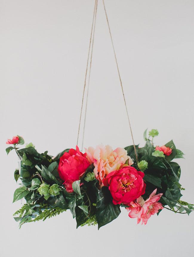 Best ideas about DIY Wedding Chandelier . Save or Pin DIY Silk Flower Chandelier Now.