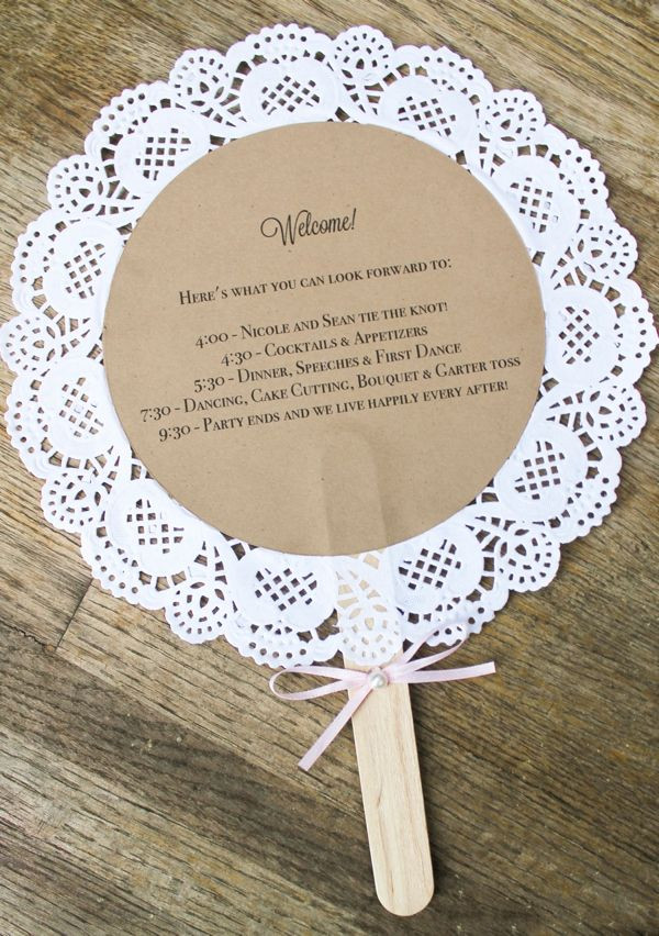 Best ideas about DIY Wedding Crafts . Save or Pin diy Wedding Crafts Doily Wedding Program Fan Tutorial Now.