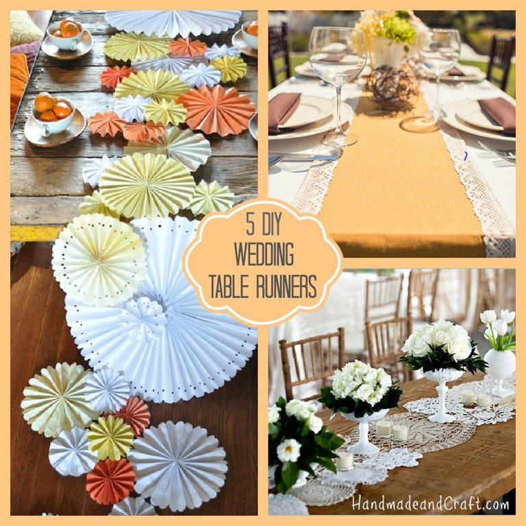 Best ideas about DIY Wedding Crafts . Save or Pin 5 DIY Wedding Table Runners Now.