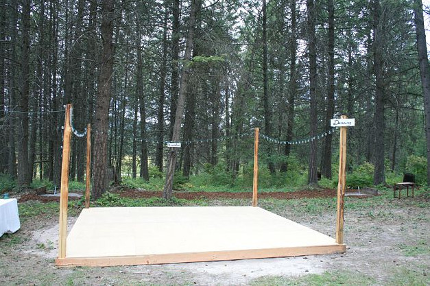 Best ideas about DIY Wedding Dance Floor . Save or Pin Real Wedding Melissa And Jesses's Montana DIY Camp Now.