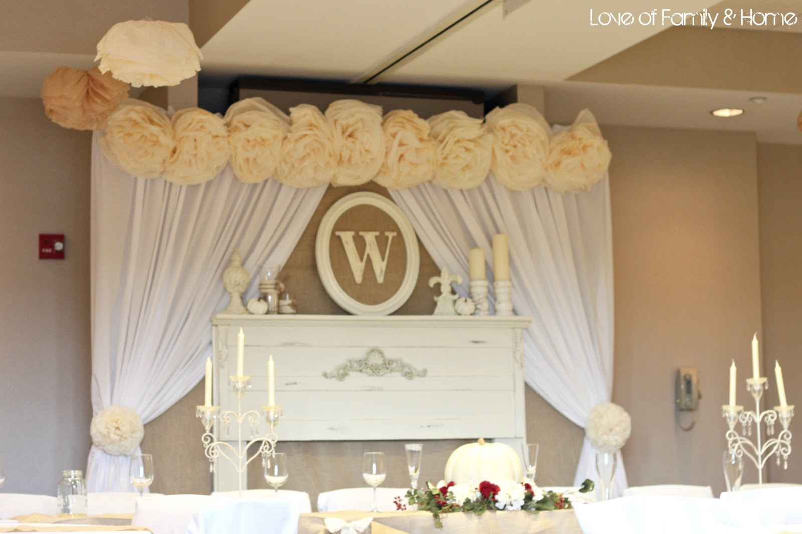 Best ideas about DIY Wedding Decor . Save or Pin DIY Rustic Chic Fall Wedding Reveal Love of Family Now.