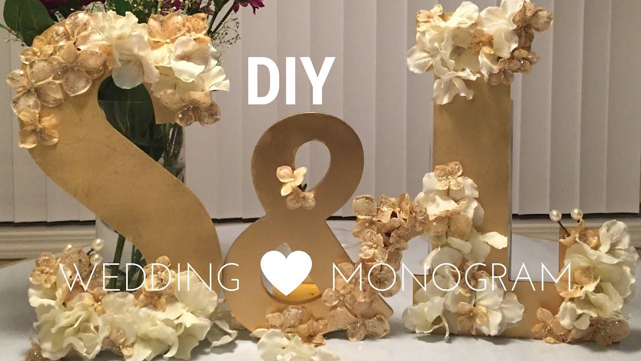 Best ideas about DIY Wedding Decor . Save or Pin DIY Wedding Decorations WOODEN MONOGRAM SET tutorial Now.