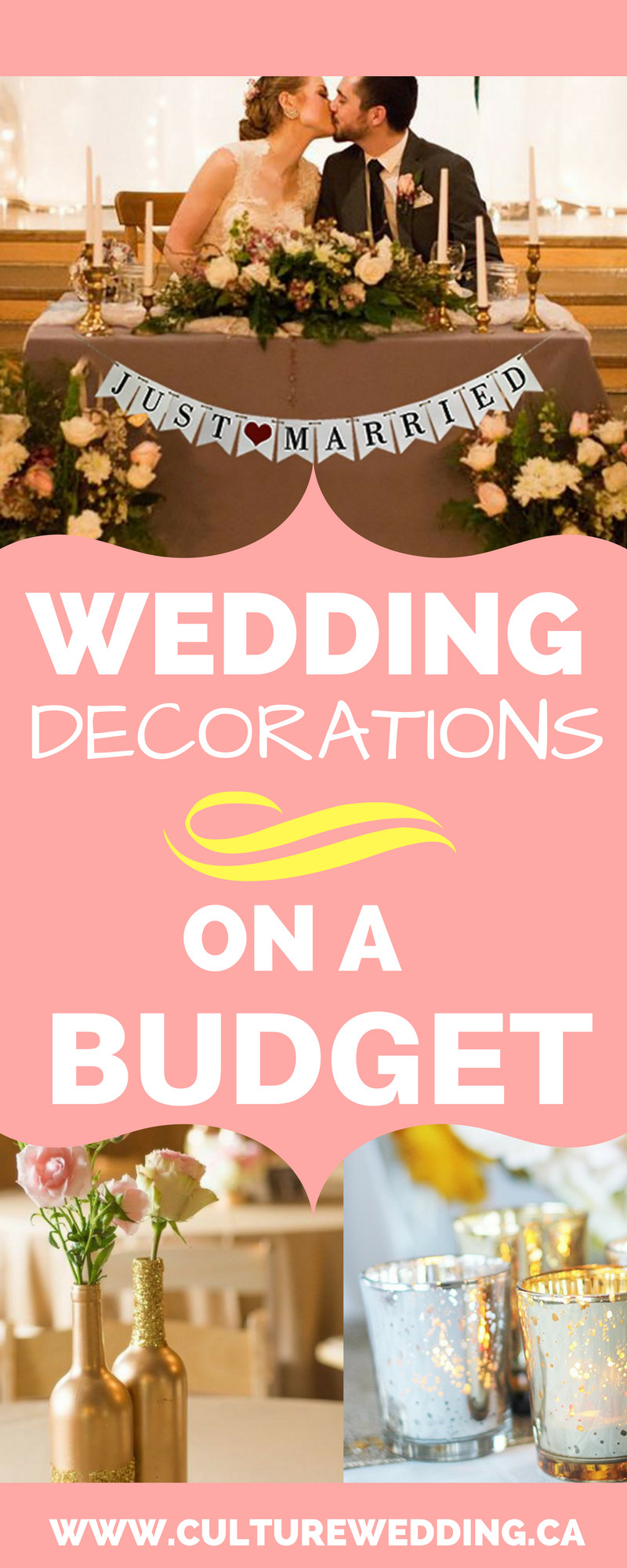 Best ideas about DIY Wedding Decor On A Budget . Save or Pin How to Wedding Decorations on a Bud Get them now Now.