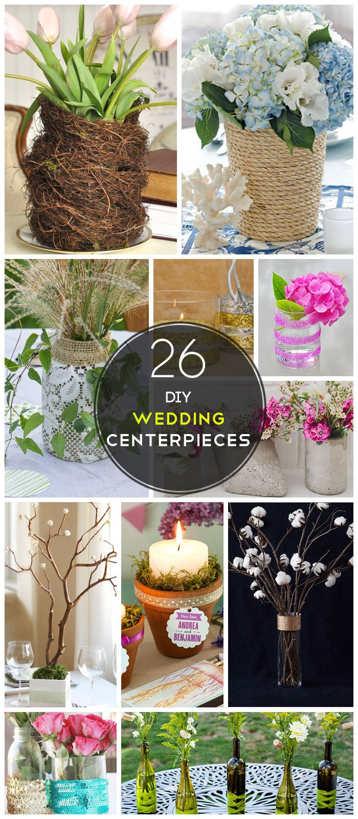 Best ideas about DIY Wedding Decor On A Budget . Save or Pin 26 DIY Wedding Centerpieces on a Bud Now.