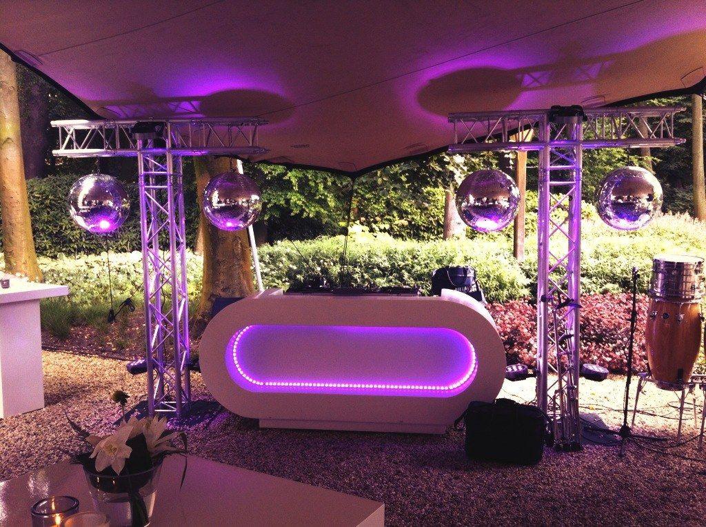 Best ideas about DIY Wedding Dj . Save or Pin Outdoor DJ Setup Mirrorballs T truss construction Now.