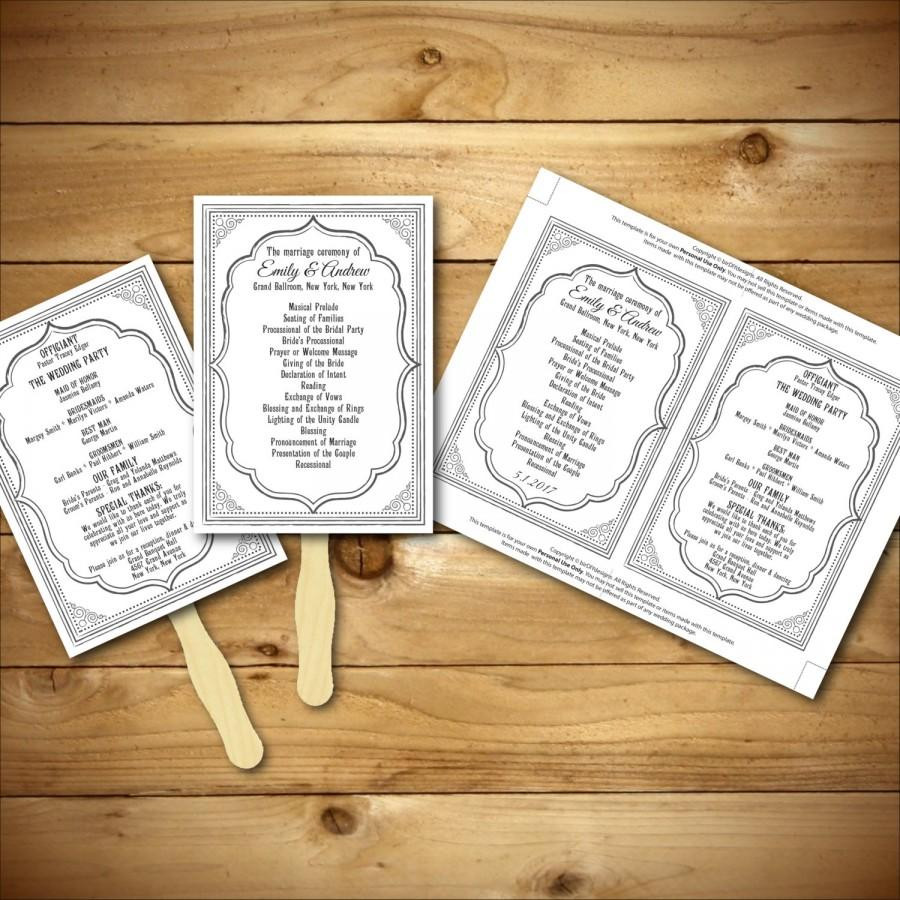 Best ideas about DIY Wedding Fans . Save or Pin Wedding Program Template Printable Wedding Program DIY Now.