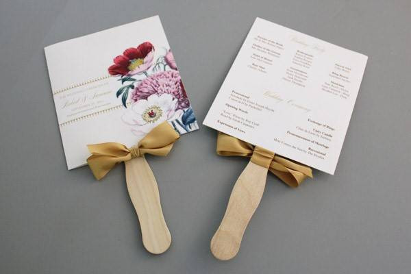 Best ideas about DIY Wedding Fans . Save or Pin DIY Pretty Blooms Wedding Program Paddle Fan Now.