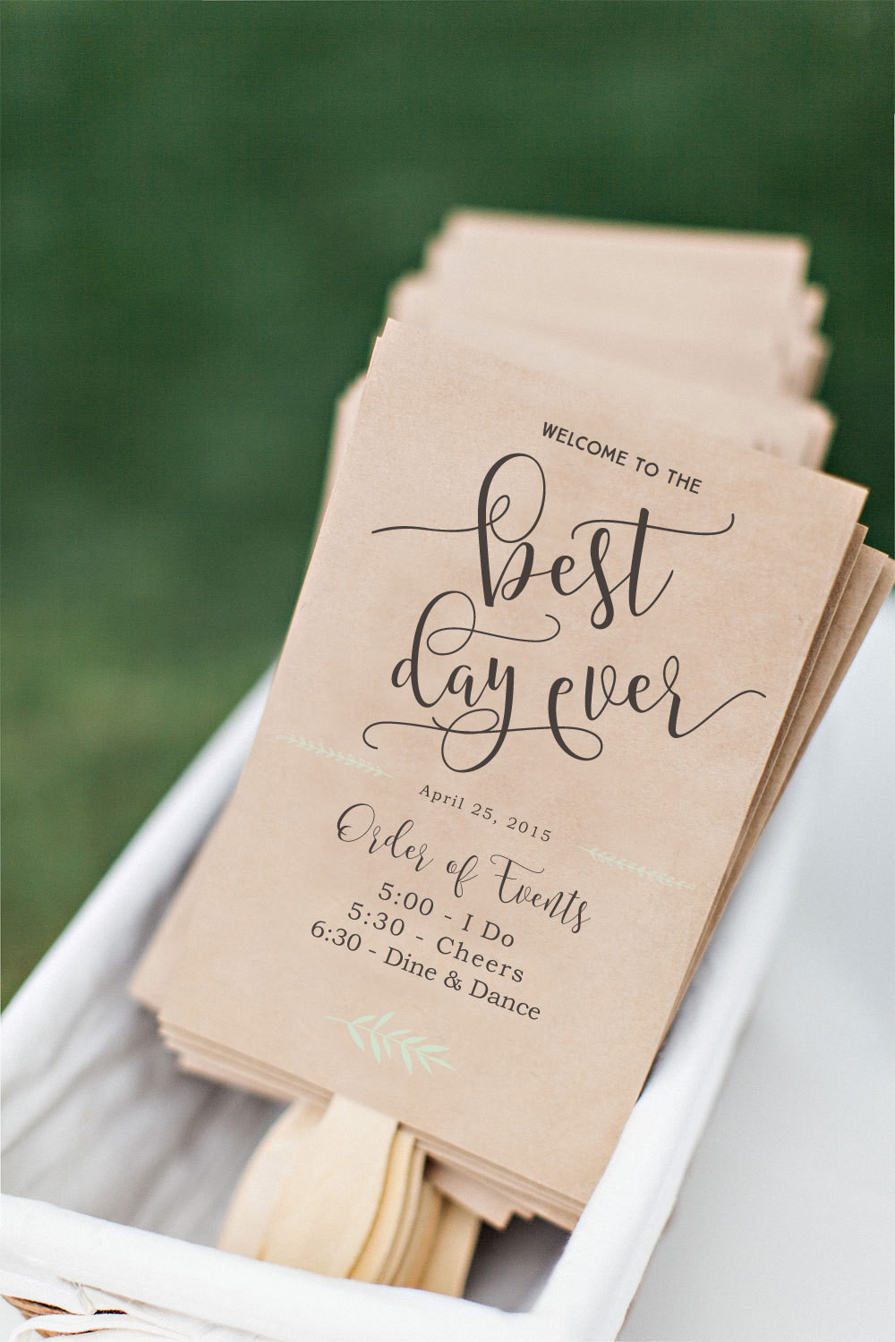 Best ideas about DIY Wedding Fans . Save or Pin Printable Wedding Program Fan DIY Wedding Program Fun Now.