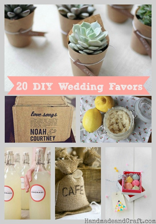 Best ideas about DIY Wedding Favor Ideas . Save or Pin 20 DIY Wedding Favors Now.