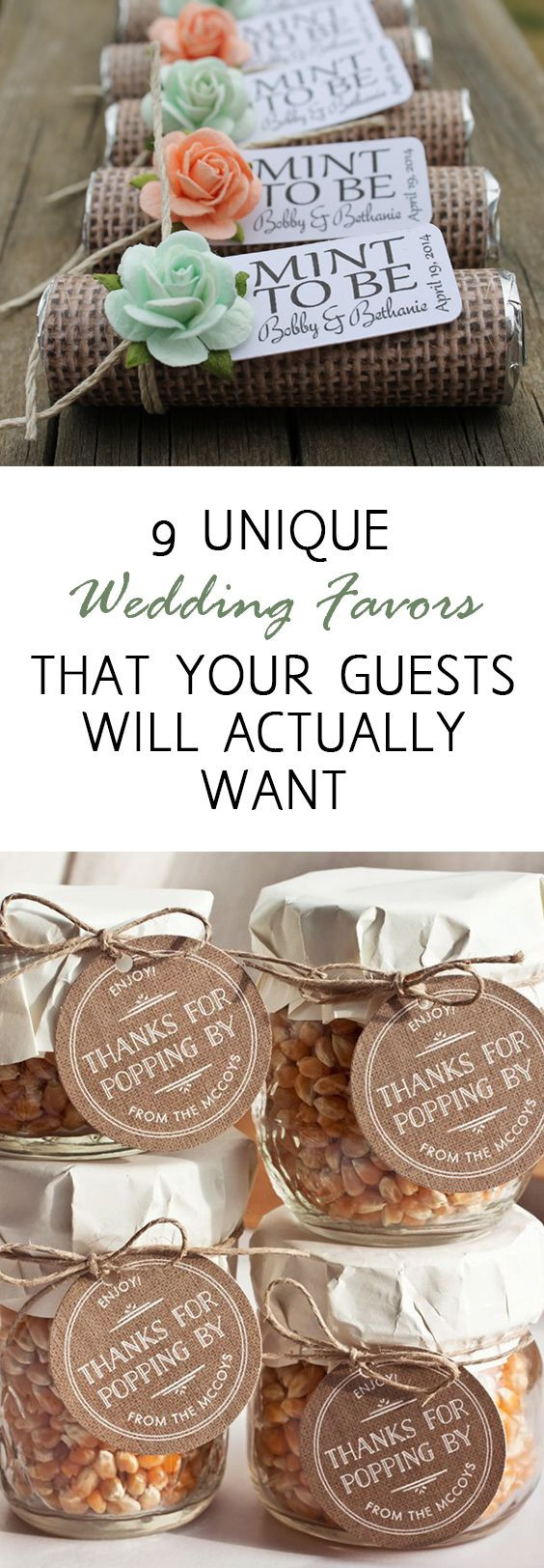 Best ideas about DIY Wedding Favor Ideas . Save or Pin 9 Unique Wedding Favors that Your Guests Will Actually Now.