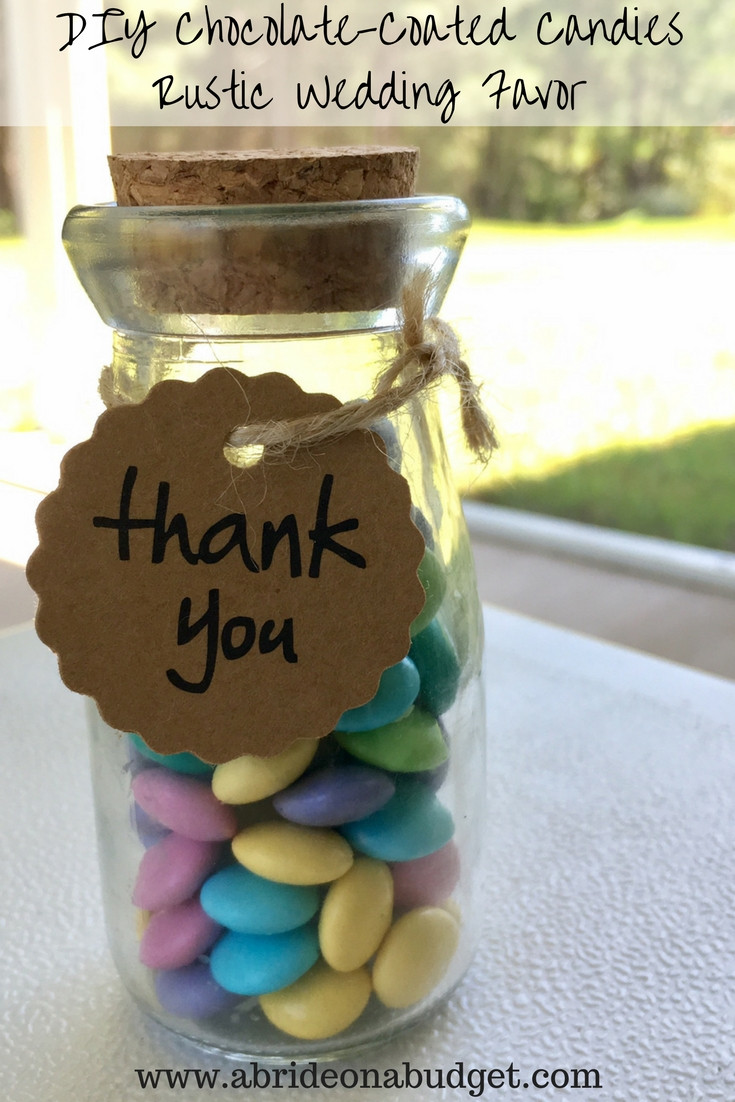 Best ideas about DIY Wedding Favors . Save or Pin DIY Chocolate Coated Can s Rustic Wedding Favor Now.