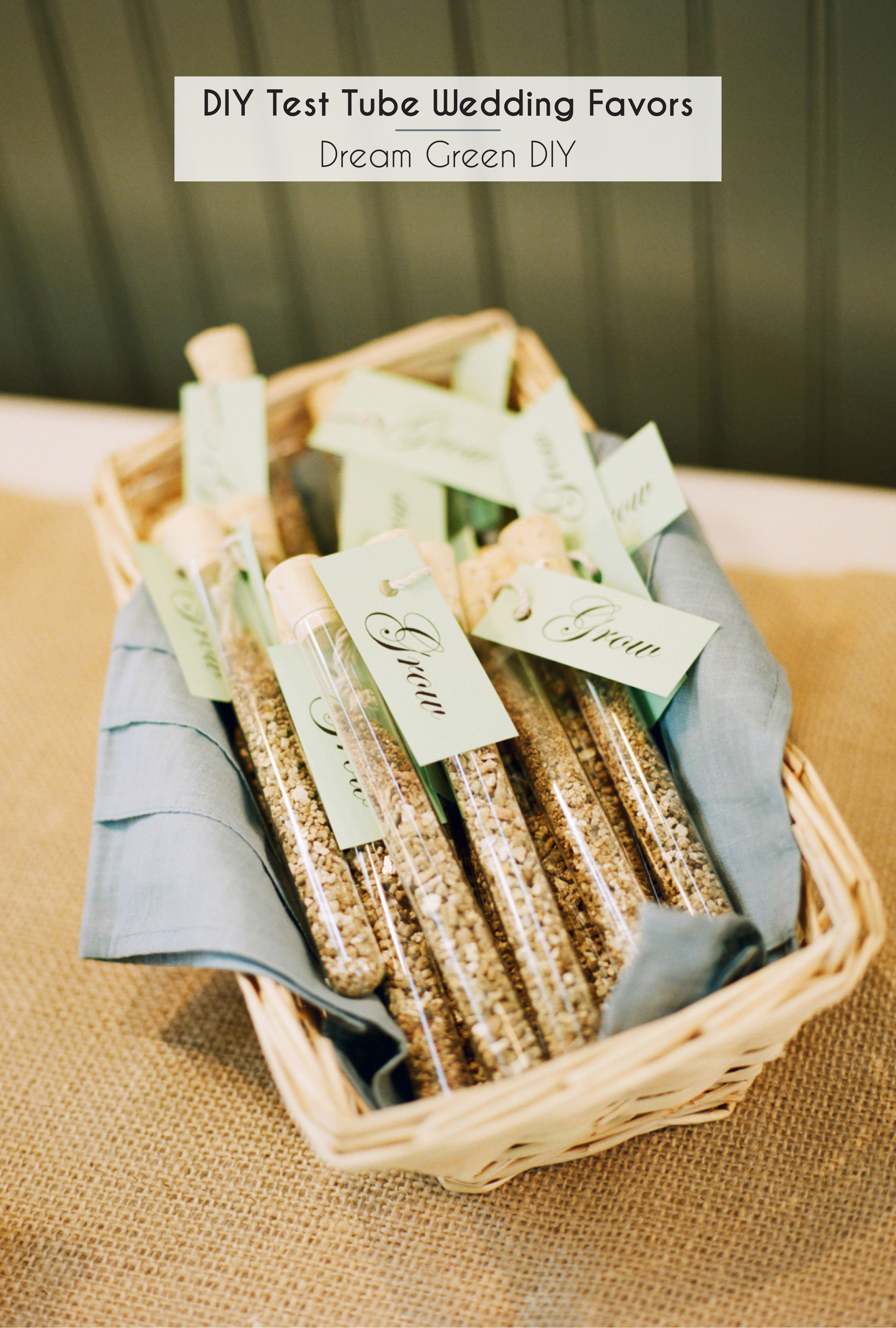 Best ideas about DIY Wedding Favors . Save or Pin DIY Test Tube Wedding Favors Dream Green DIY Now.