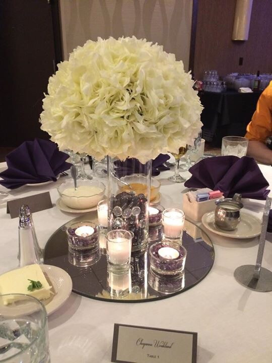Best ideas about DIY Wedding Floral Centerpieces . Save or Pin DIY Silk Floral and Candle Centerpiece Now.