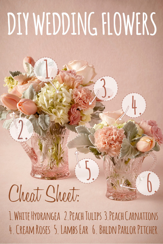 Best ideas about DIY Wedding Floral Centerpieces . Save or Pin Peach & White DIY Wedding Flower Centerpiece Inspired by Now.