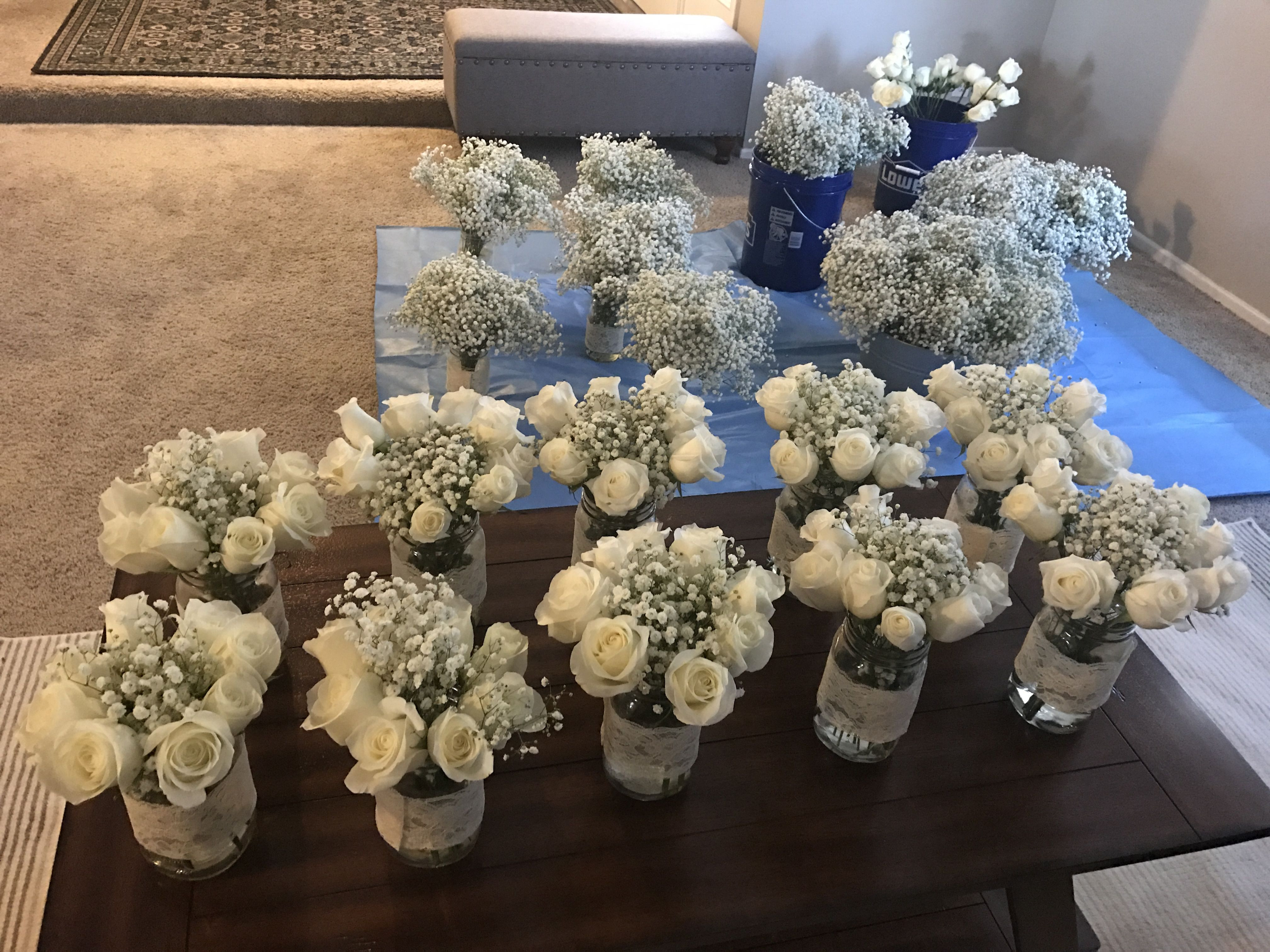 Best ideas about DIY Wedding Flowers Wholesale . Save or Pin DIY Wedding Flowers Beautiful costco roses and baby s Now.
