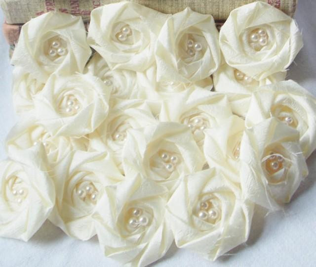 Best ideas about DIY Wedding Flowers Wholesale . Save or Pin Bridal Flower Applique Wholesale Fabric Flower Rolled Now.