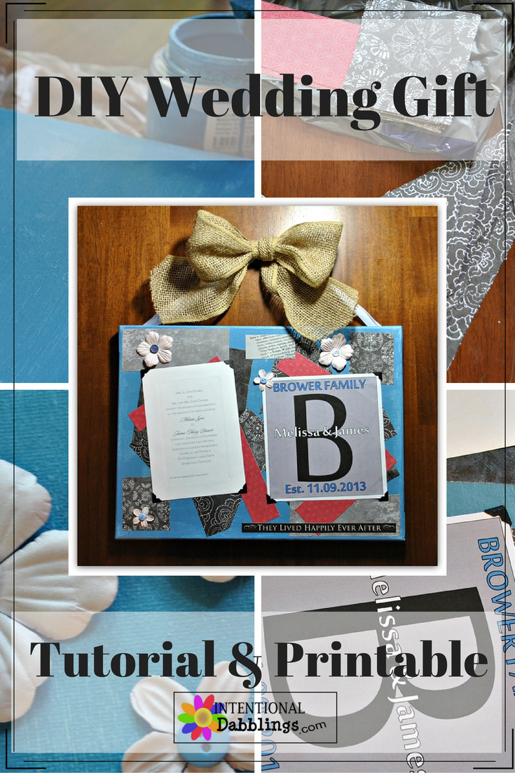 Best ideas about DIY Wedding Gift . Save or Pin DIY Wedding Gift or Anniversary Gift Now.