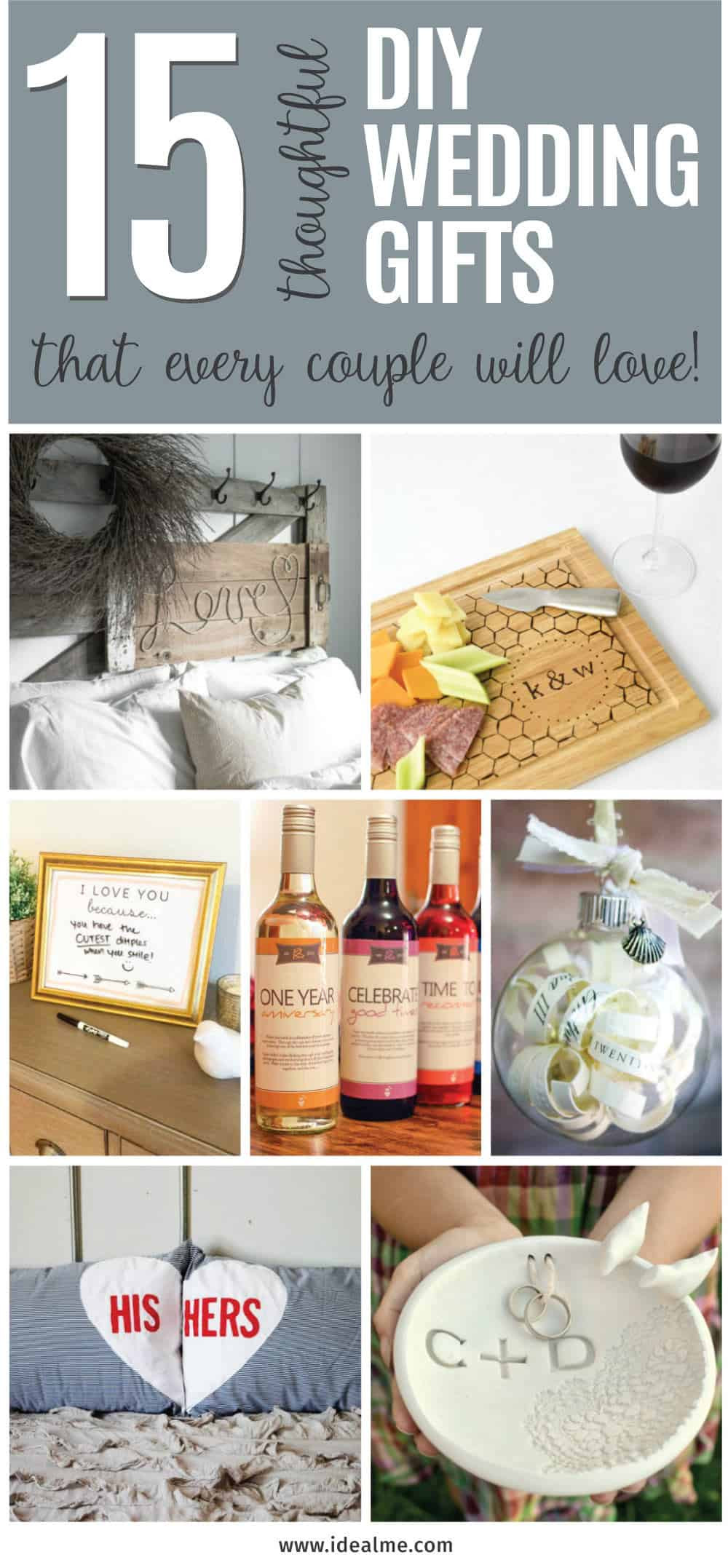 Best ideas about DIY Wedding Gift . Save or Pin 15 Thoughtful DIY Wedding Gifts that Every Couple Will Now.