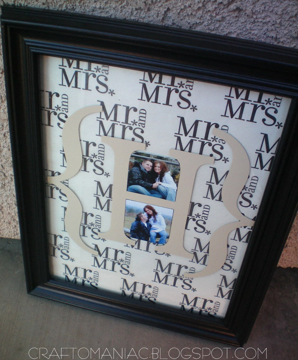 Best ideas about DIY Wedding Gifts . Save or Pin DIY Monogrammed Wedding Gift Craft O Maniac Now.