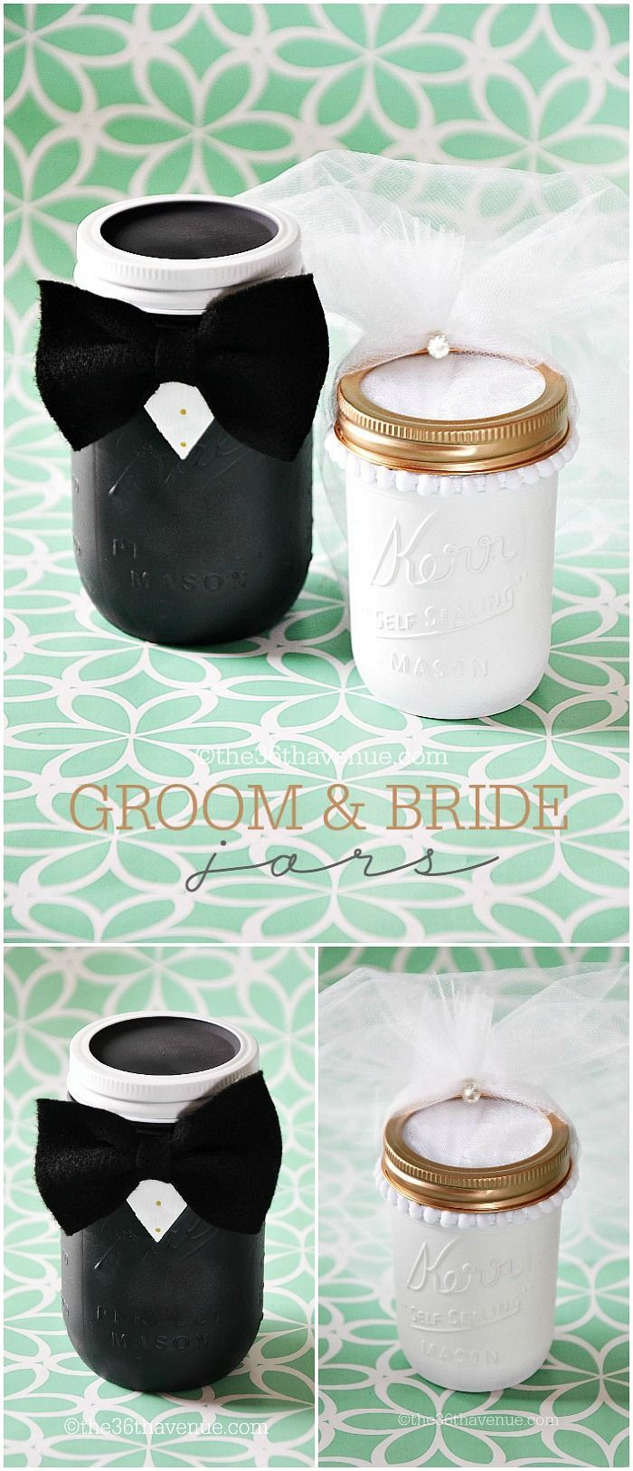 Best ideas about DIY Wedding Gifts For Bride And Groom . Save or Pin Mason Jar Crafts Groom & Bride Now.