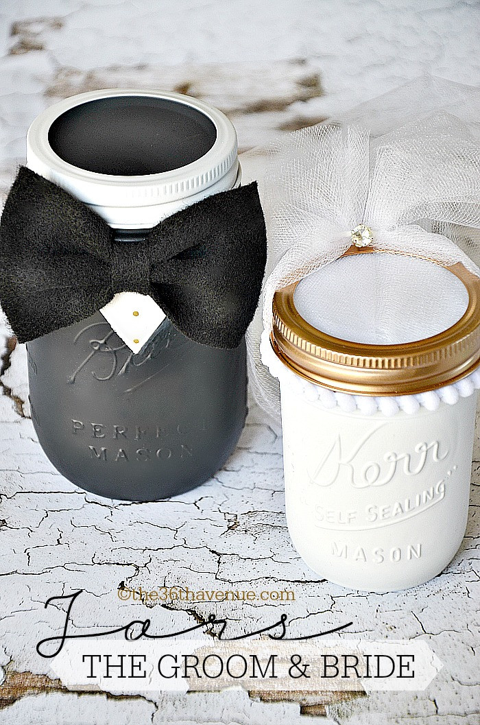 Best ideas about DIY Wedding Gifts For Bride And Groom . Save or Pin The 36th AVENUE Mason Jar Crafts – Groom & Bride Now.