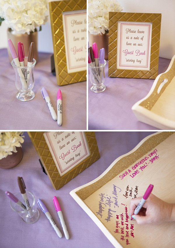 Best ideas about DIY Wedding Guest Books . Save or Pin Learn how to make your own wedding guest book serving tray Now.