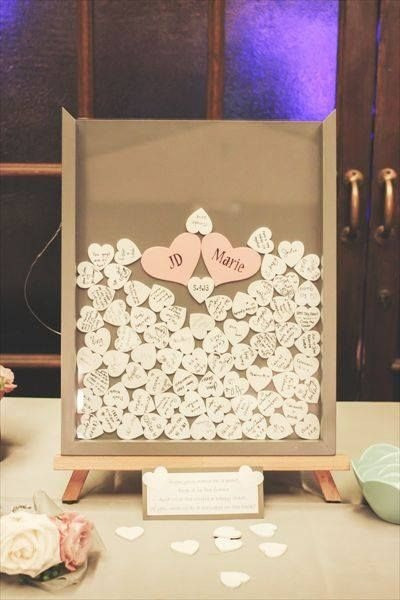Best ideas about DIY Wedding Guest Books . Save or Pin DIY Wedding Guest Book Frame w Hearts Now.