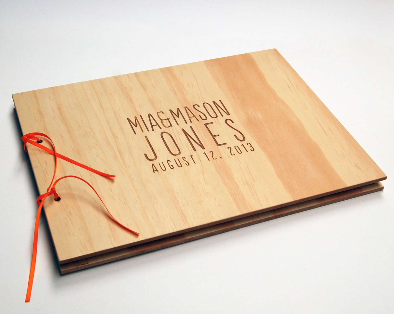 Best ideas about DIY Wedding Guest Books . Save or Pin DIY Guest Book Wood Wedding Book Engagement Scrapbook Now.