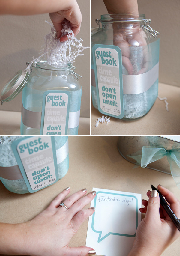 Best ideas about DIY Wedding Guest Books . Save or Pin How to make a DIY time capsule guest book Now.