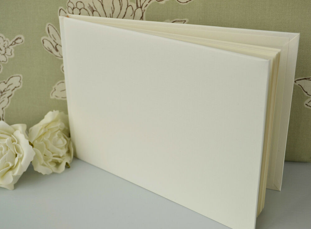 Best ideas about DIY Wedding Guest Books . Save or Pin Plain Blank Ivory Guest Book DIY Wedding Guest Book Now.