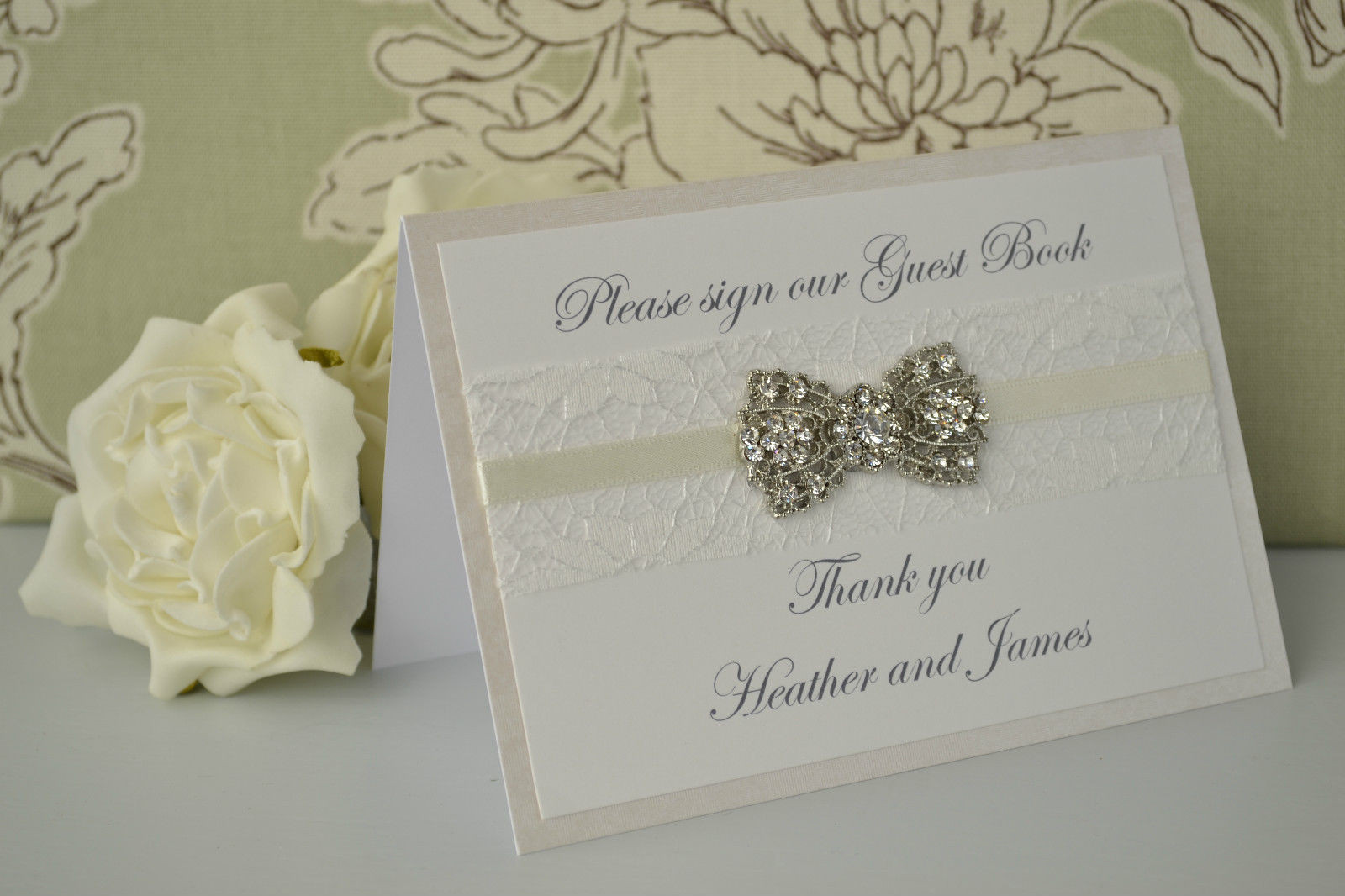 Best ideas about DIY Wedding Guest Books . Save or Pin Personalised Wedding Guest Book Sign – Vintage Diamante Now.