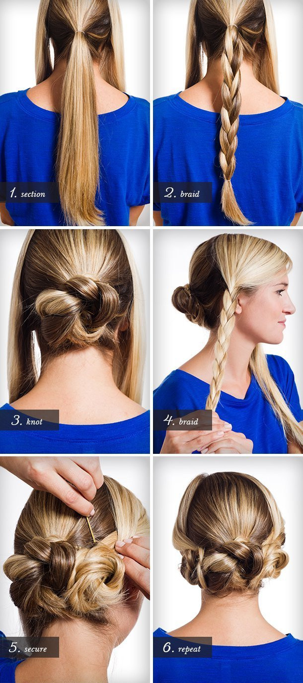 Best ideas about DIY Wedding Hairstyles . Save or Pin Braids twists and buns 20 easy DIY wedding hairstyles Now.