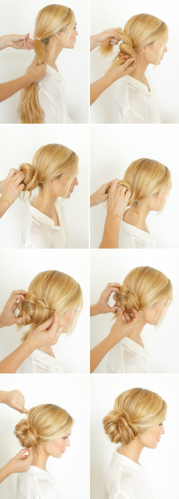 Best ideas about DIY Wedding Hairstyles . Save or Pin DIY Knotted Bun Wedding Hairstyle Now.